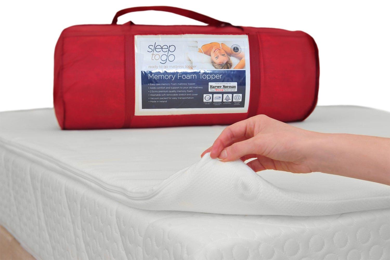 Sleep To Go Memory Foam Mattress Topper