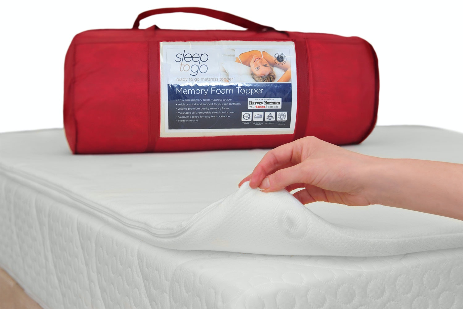 Sleep To Go Mattress Topper 2 5 Cm Single 3ft Harvey Norman Ireland