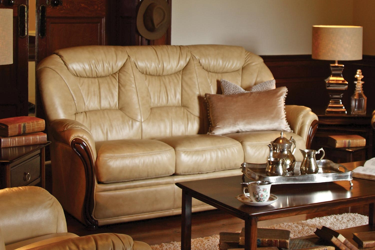 Casino 3 Seater Leather Sofa