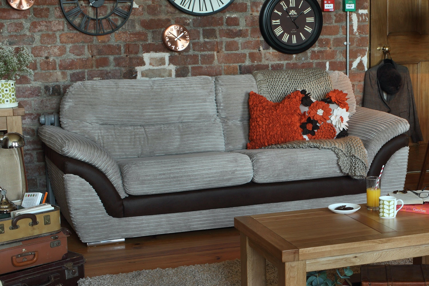 Pippa 3 Seater Fabric Sofa
