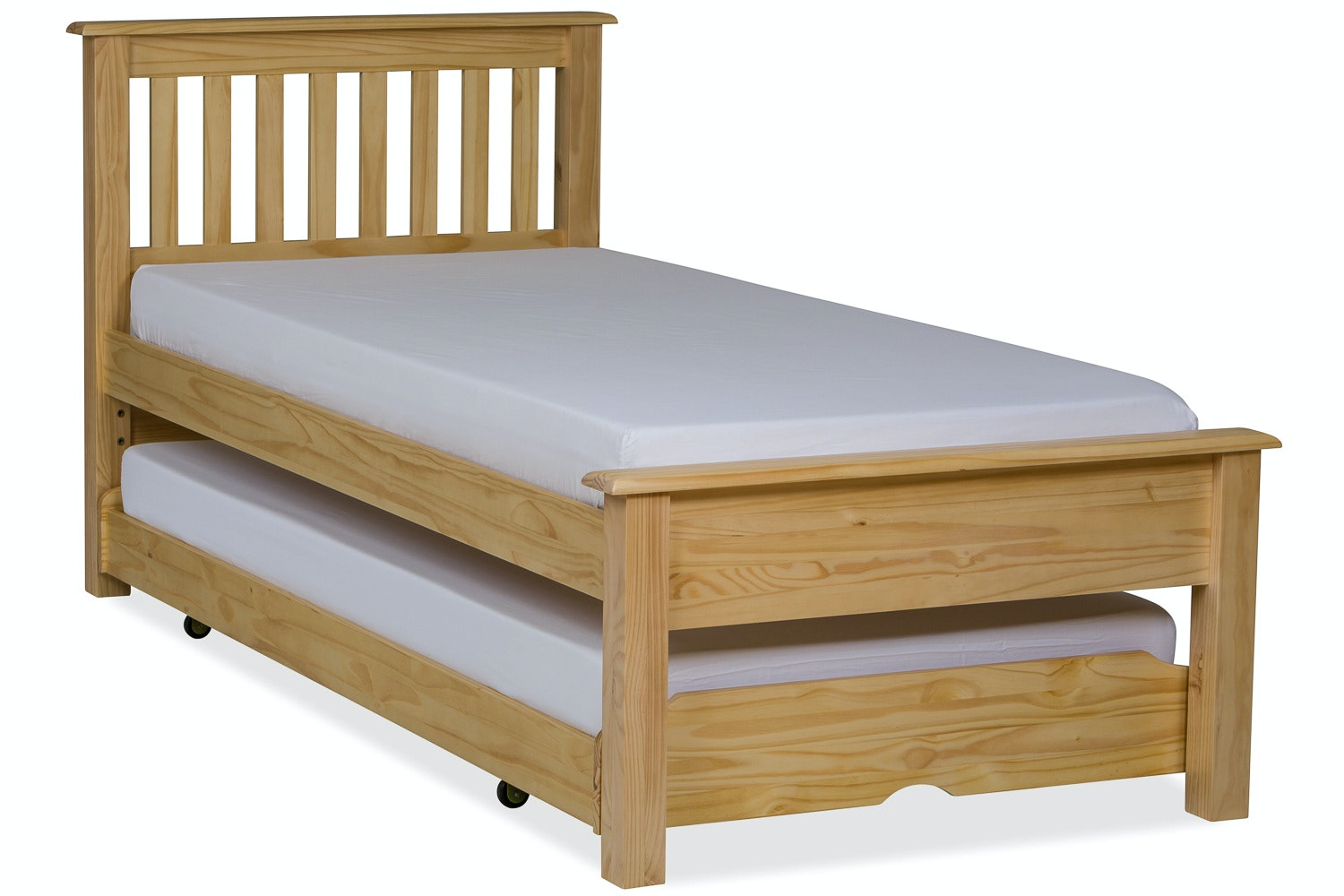 Shaker Trundle Bed 3ft Natural Harvey Norman Ireland