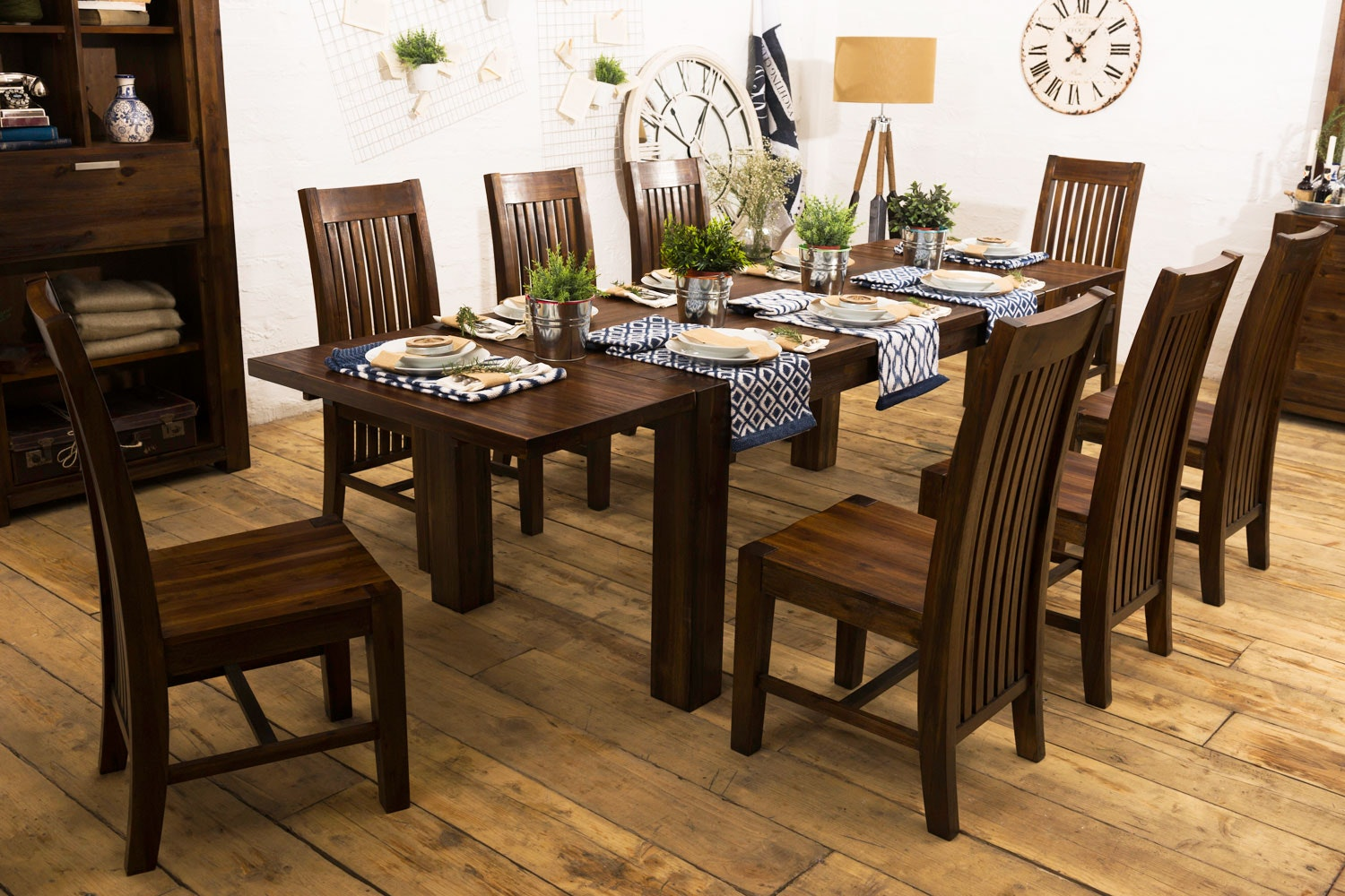 Cognac 9-Piece Dining Set