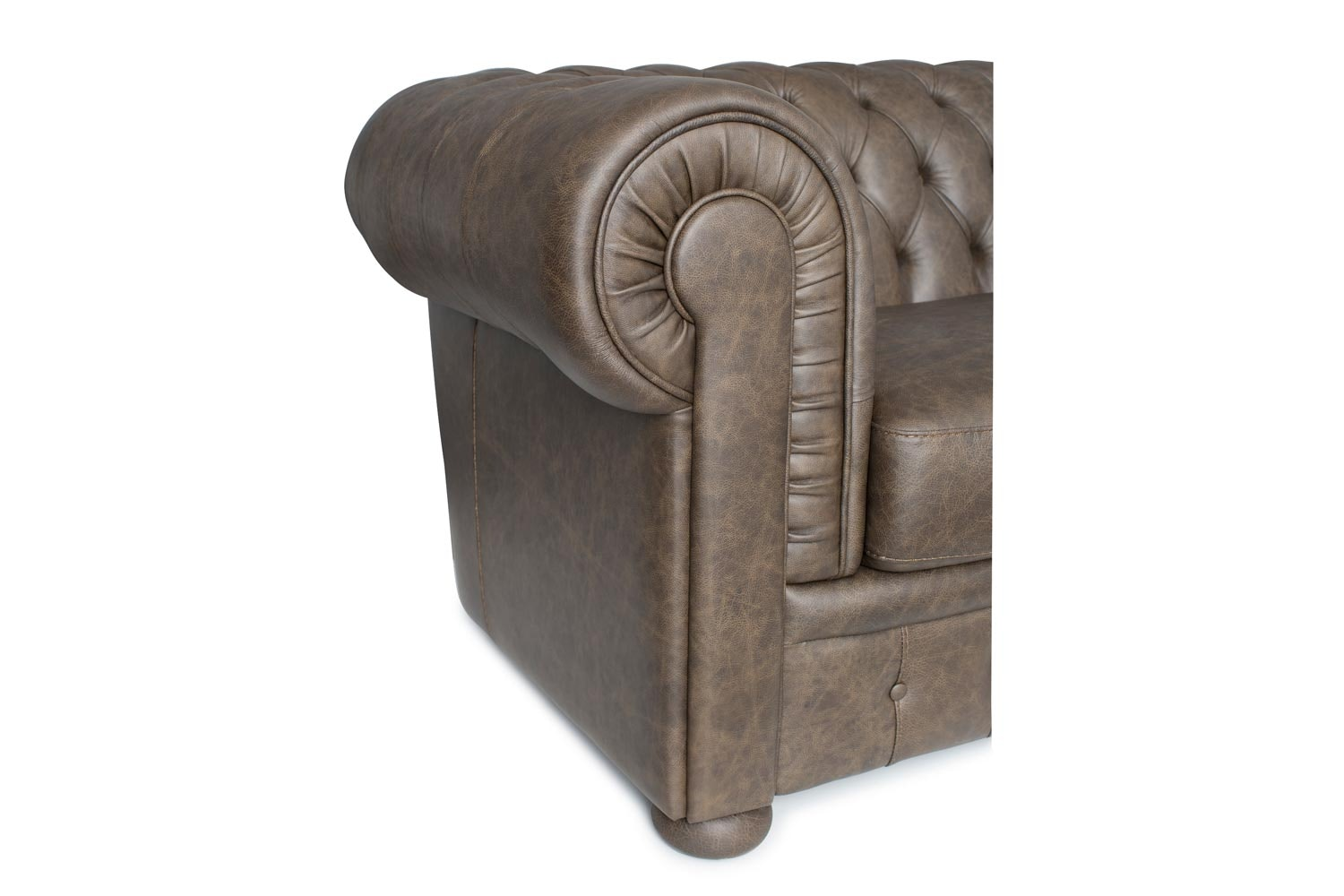 Marlowe 2.5 Seater Leather Sofa Detail