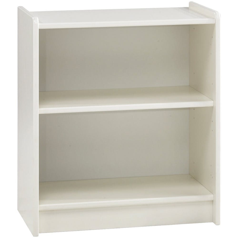 Popsicle Low Bookcase White