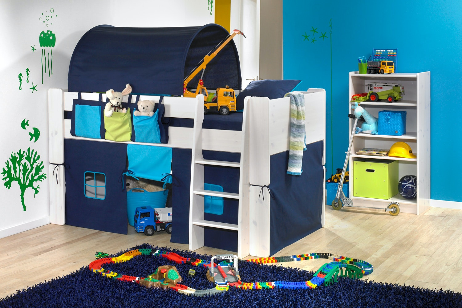 Midsleeper Bed Frame with accessories