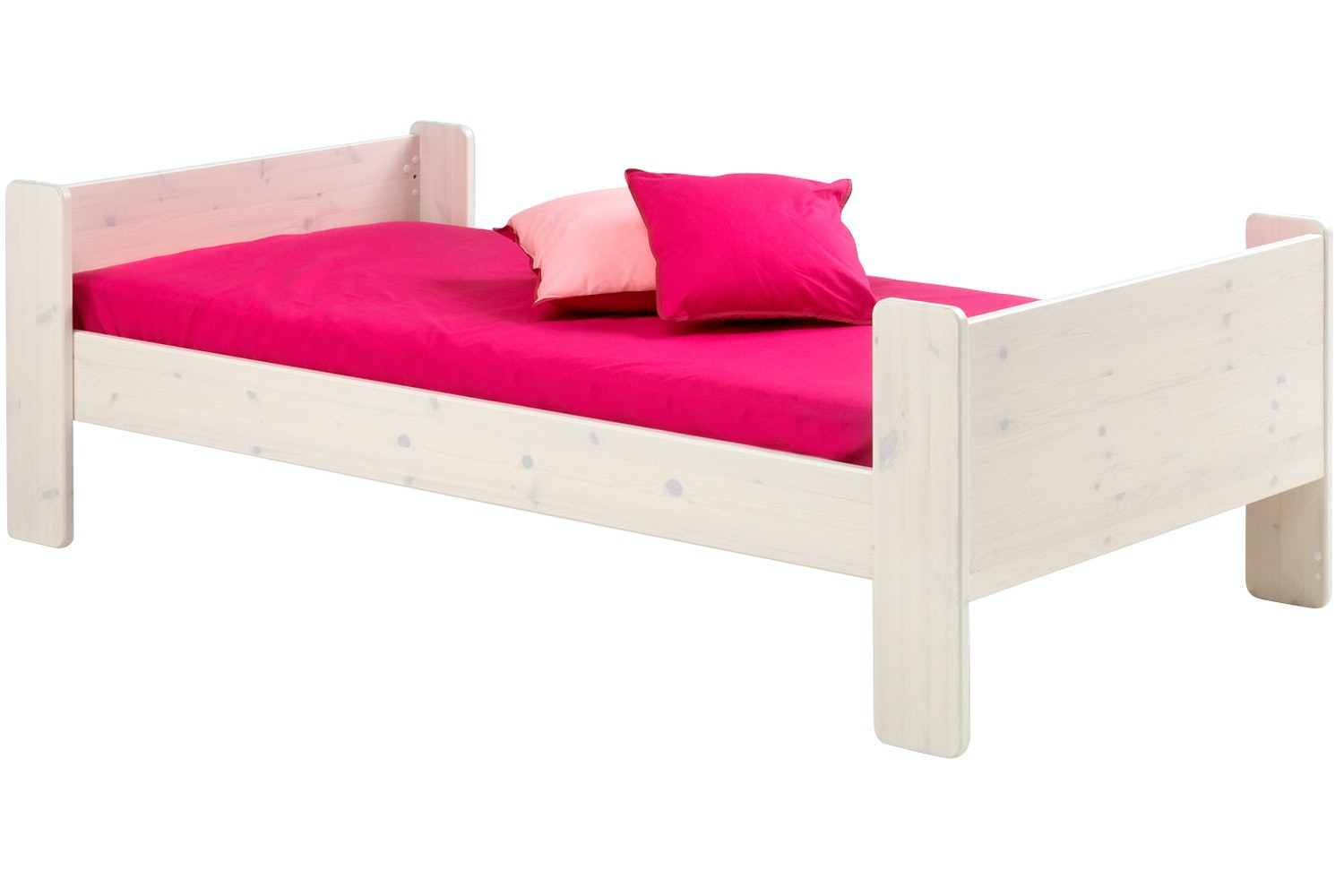 Popsicle Single Bed Frame White Wash