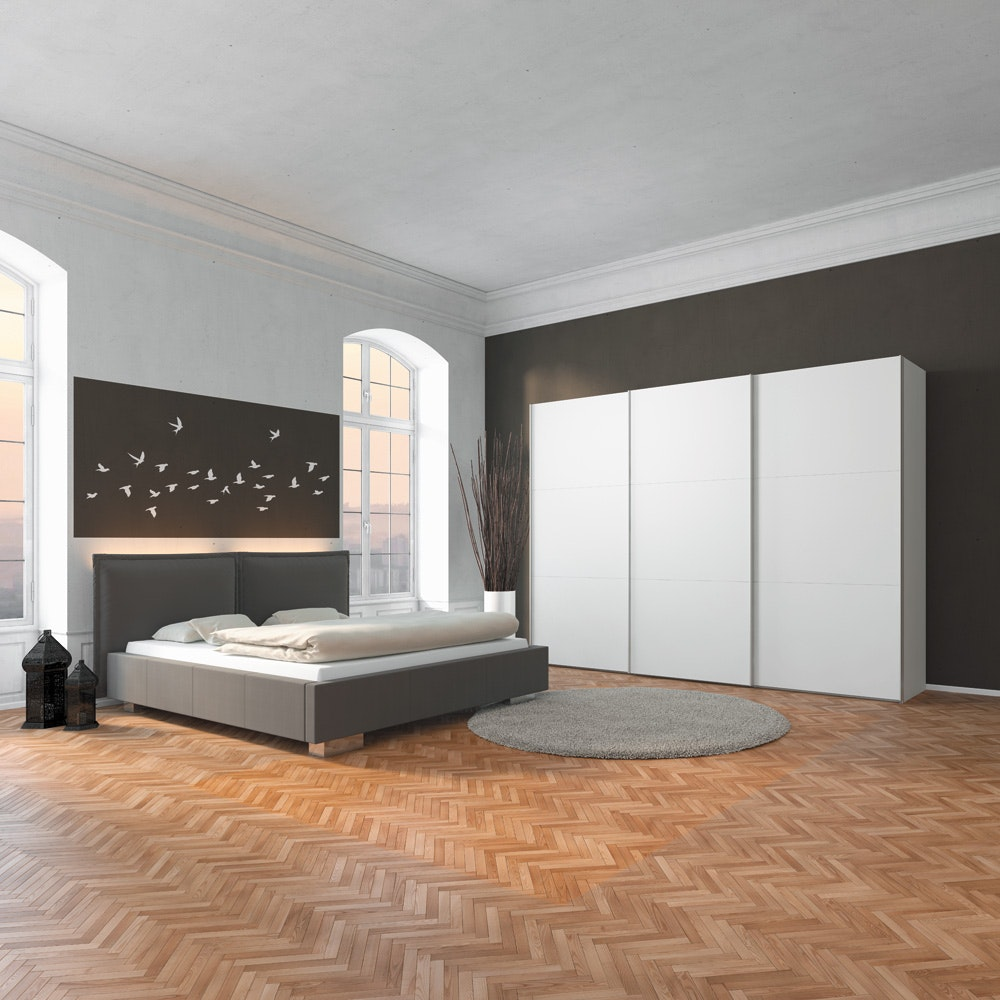 Jutzler Slideline Wardrobe |Bianco Glass Matte