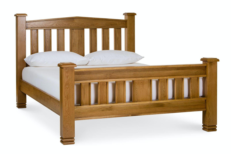 lancaster natural oak bed frame 6ft - Oak Bed Frame