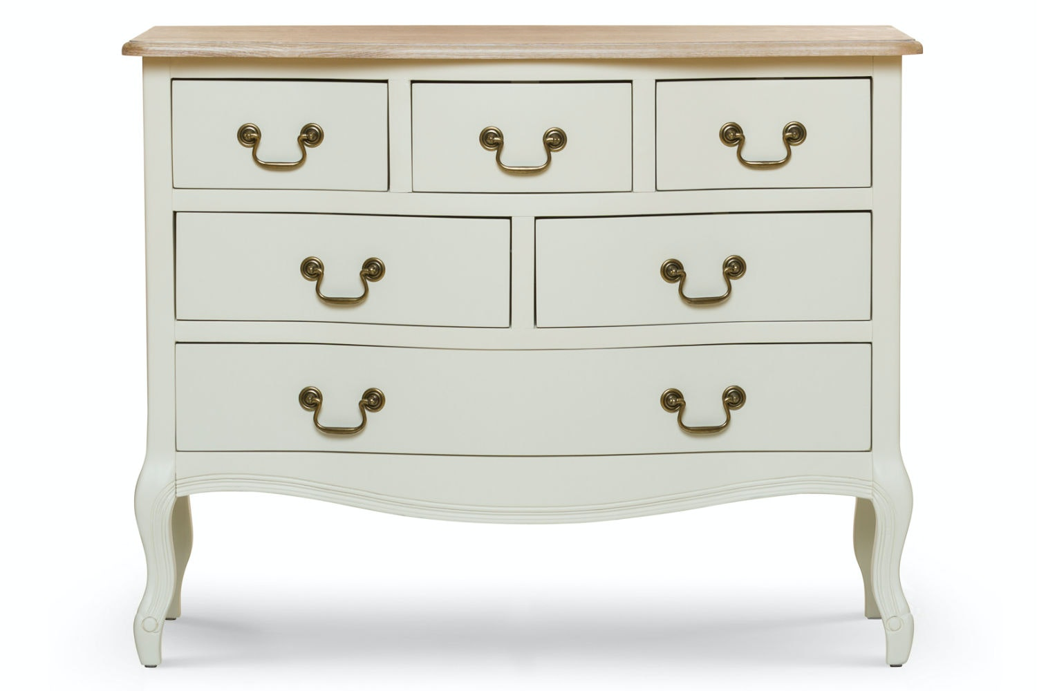 Bouvard 6 Drawer Dresser Chest | Cream