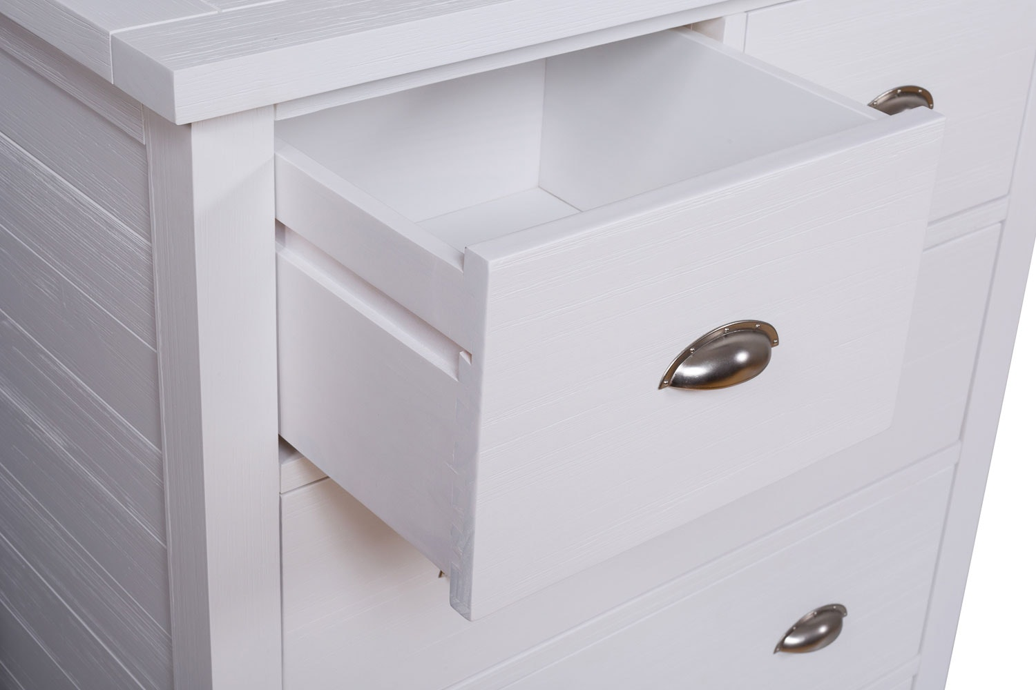 Gemstone 3 + 2 Chest of Drawers | White