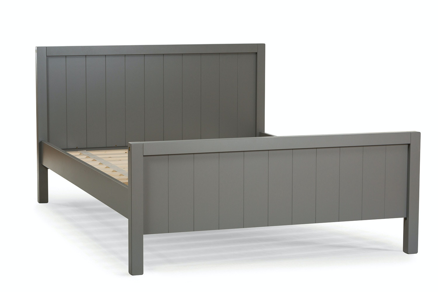 Grey Wooden Double Bed Part - 19: Urban Grey Small Double Bed