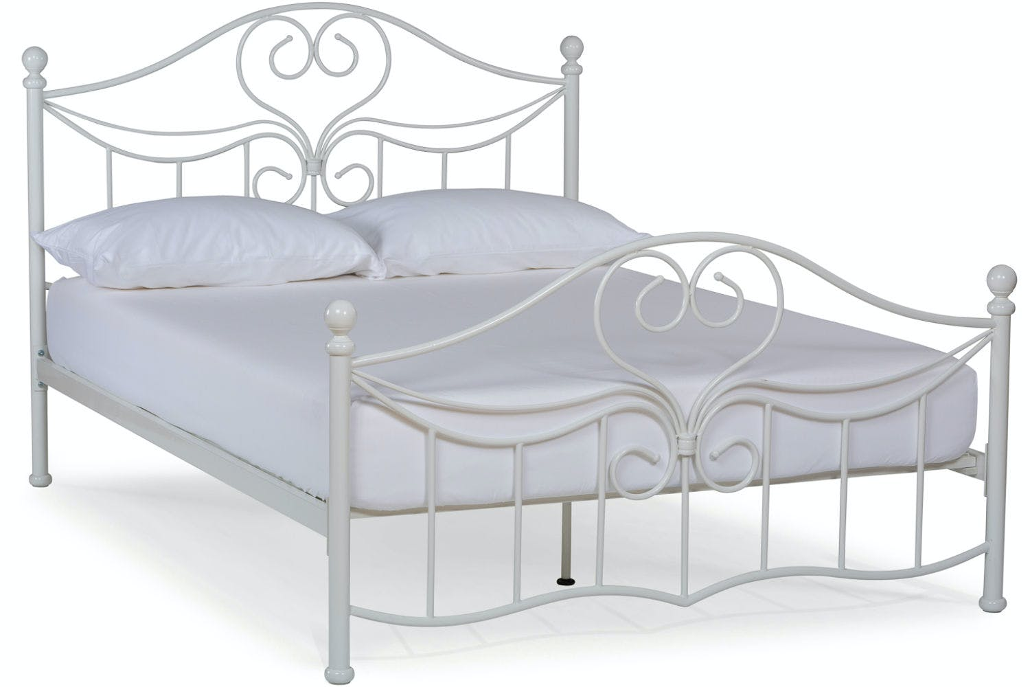 Julliet Small Double Metal Bed Frame | 4ft | Ivory | Harvey Norman ...
