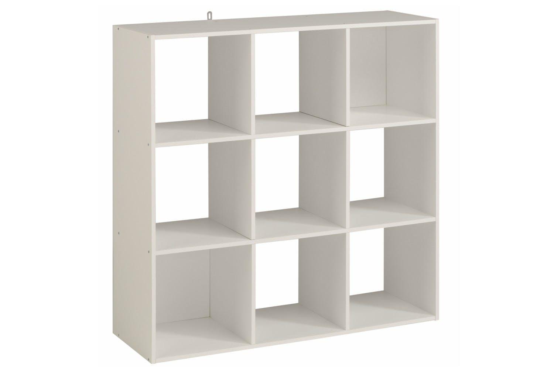 Kubikub 9 Cube Square Storage White
