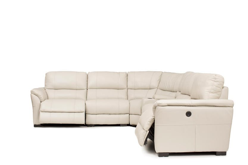 Skylar Electric Recliner Corner Sofa Grey Harvey