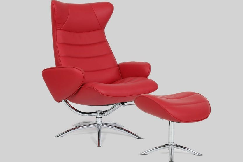 chelsea leather chair and footstool harvey norman ireland