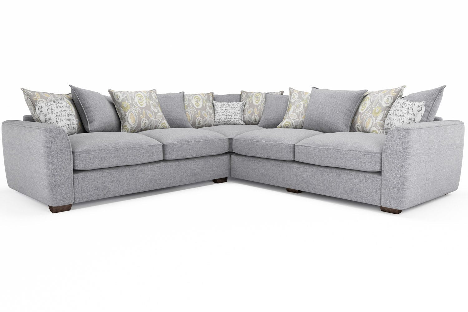 Grey Corner Sofas Dakota Grey Bonded Leather Corner Sofa ...
