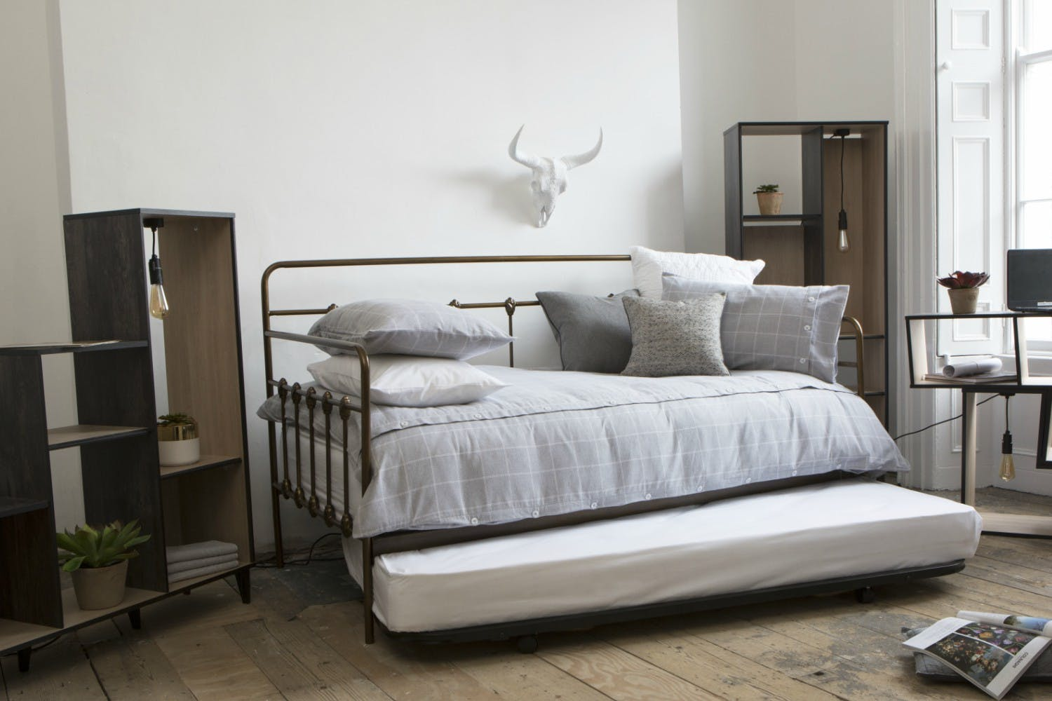 Isaac 3ft Day Bed With Trundle Bronze Harvey Norman Ireland