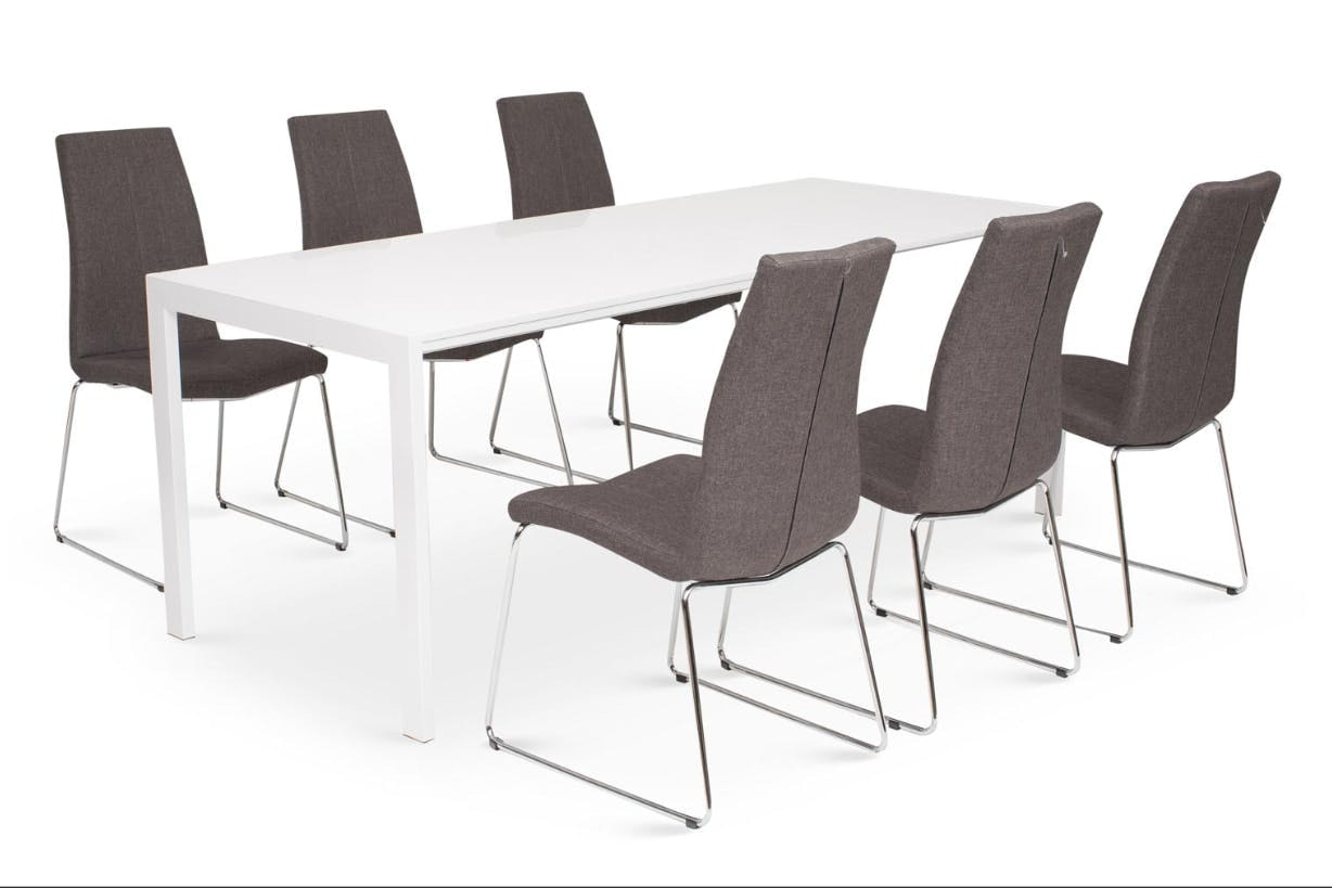 Bristol Dining Set With Melina Chairs | 7 Piece