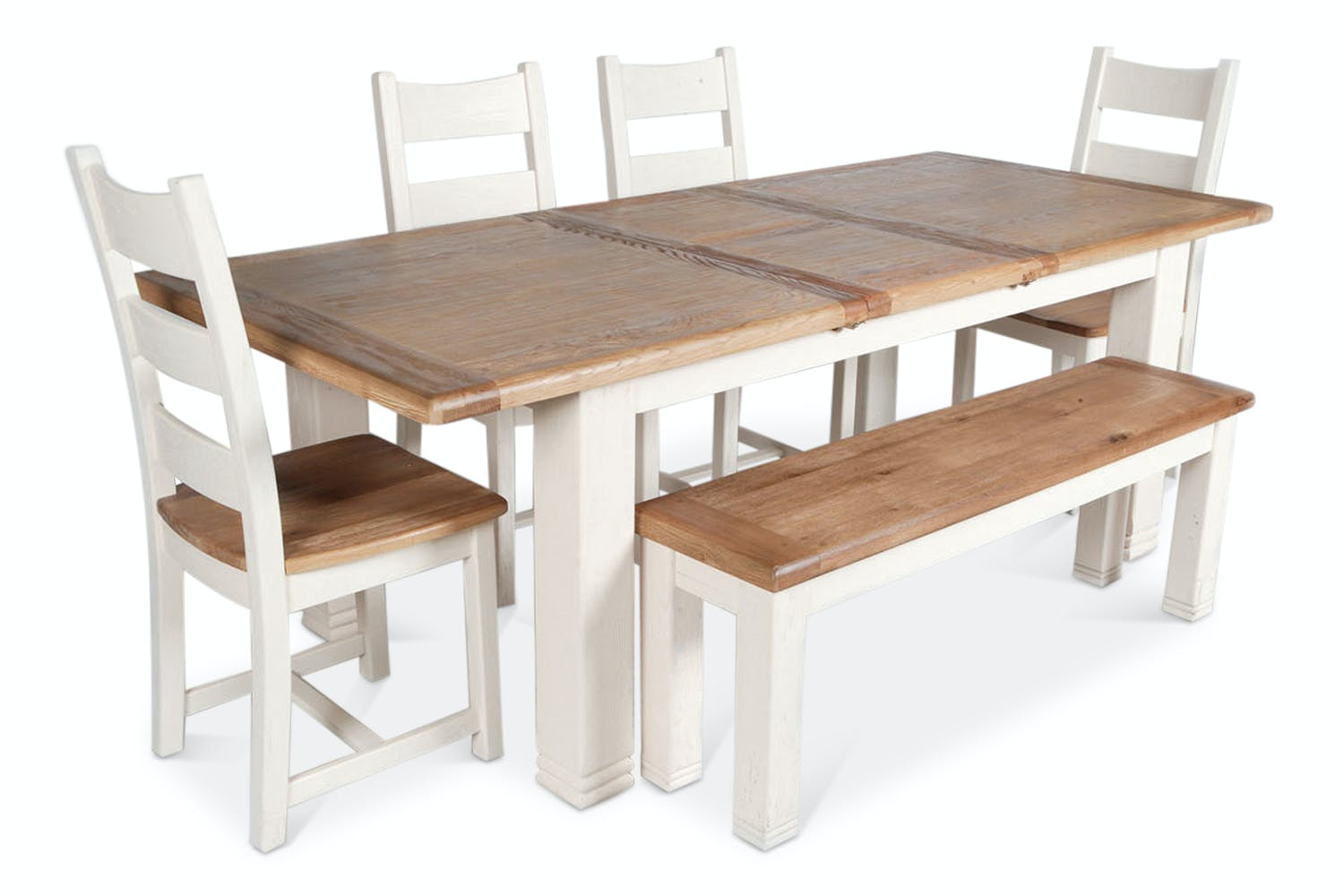 Queenstown 6 Piece Dining Set | White | Harvey Norman Ireland