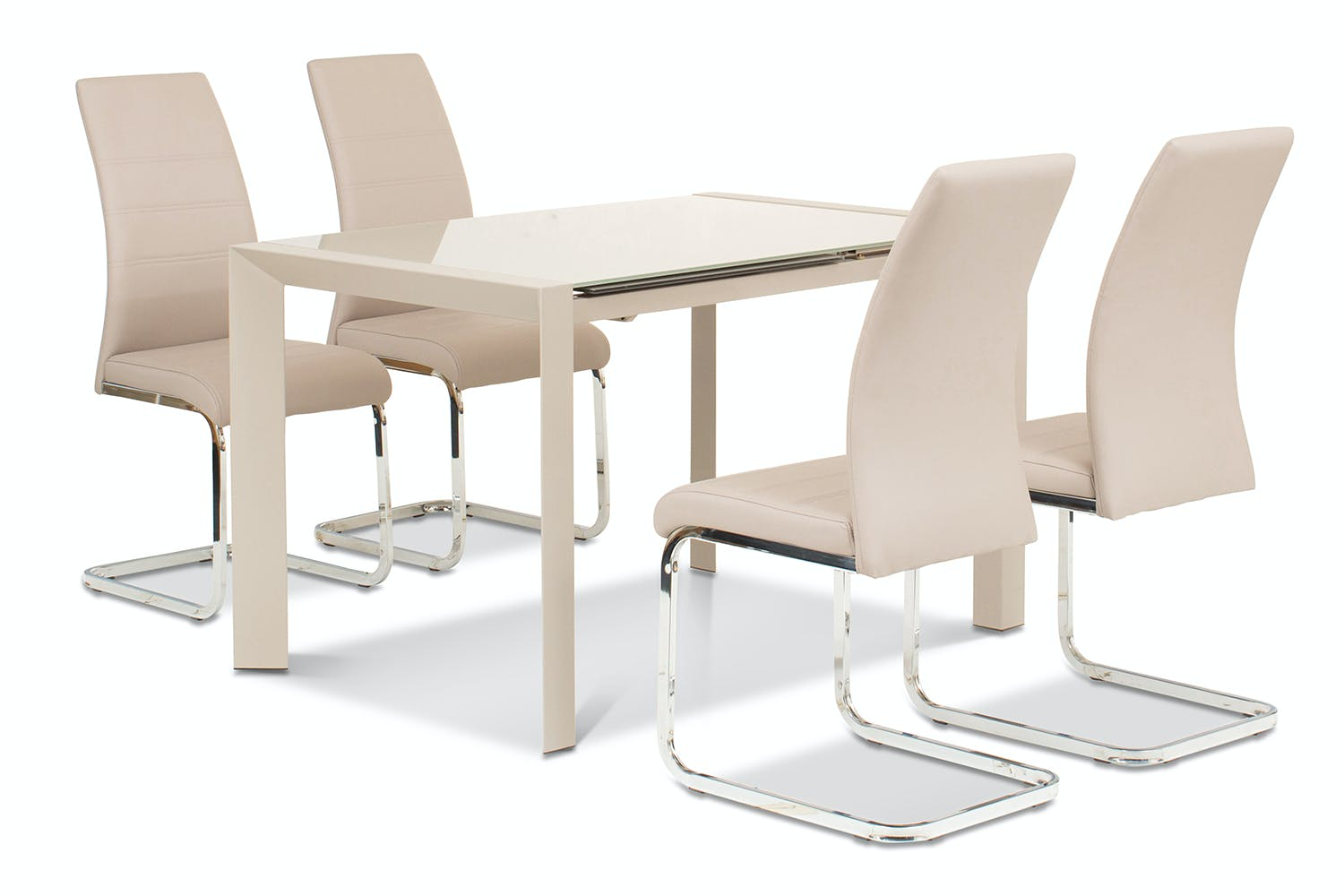 Slide 5 Piece Set Sand Table With Dawson Chairs Taupe Harvey Norman Ireland