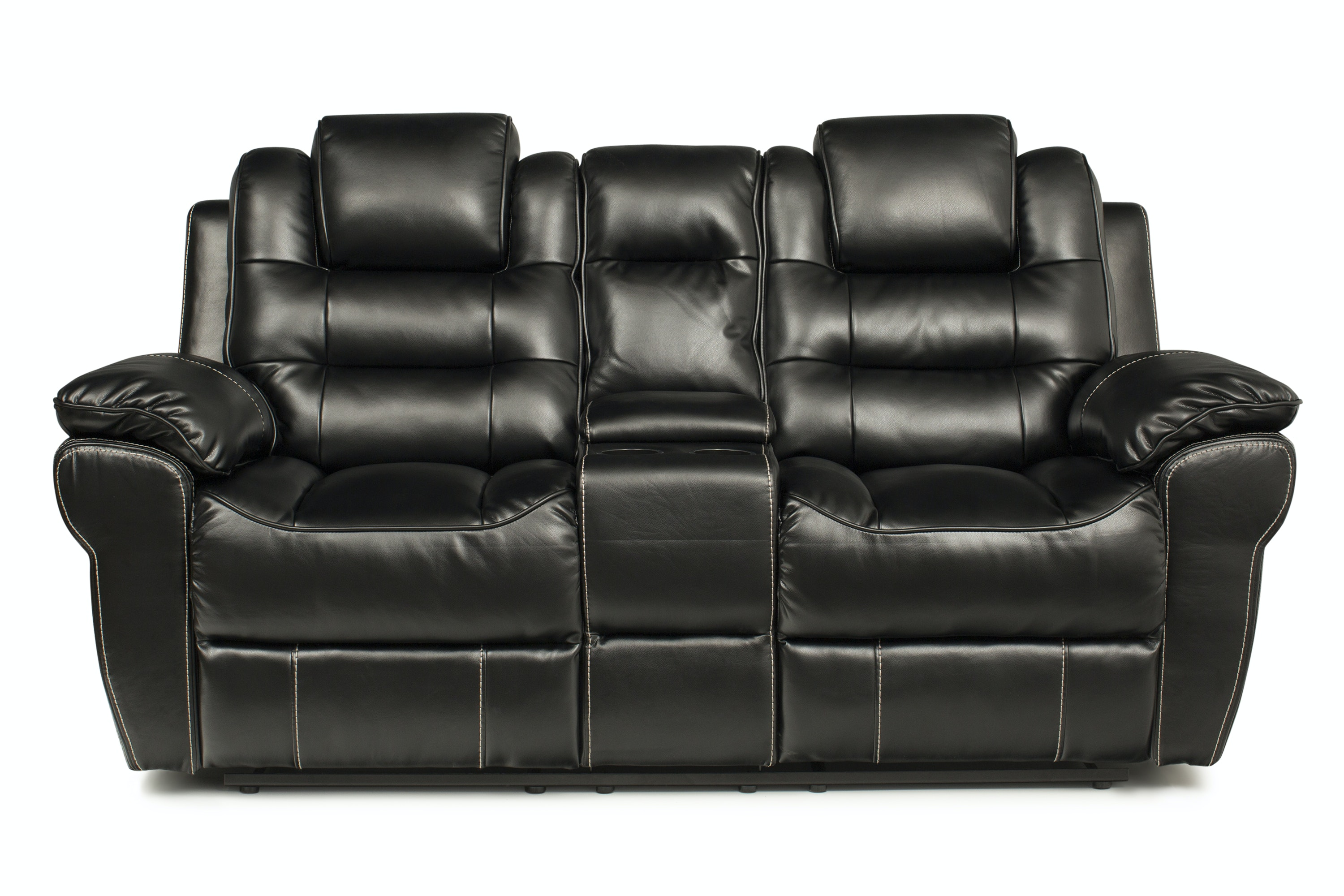 Picture of: Baxter 2 Seater Electric Recliner With Console Black Harvey Norman Ireland