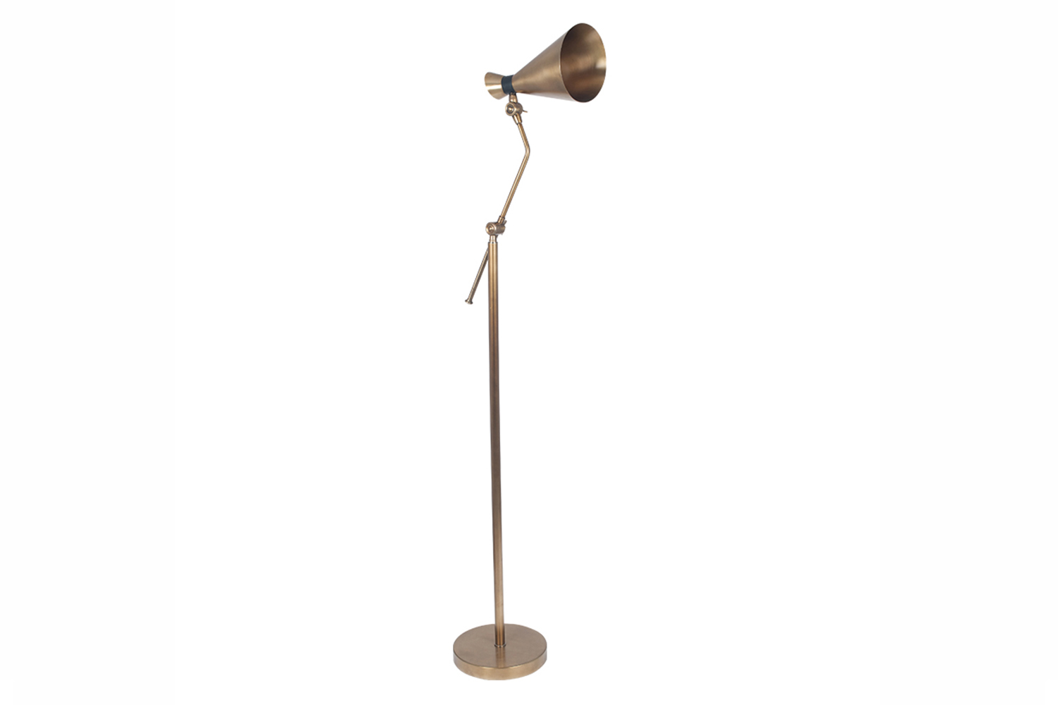 Antique Brass Metal Conical Floor Lamp