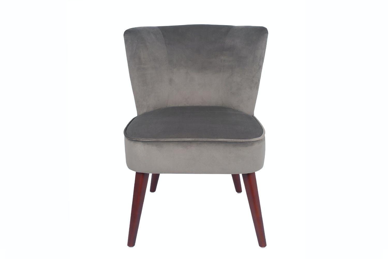Velvet Chair  Grey