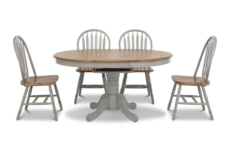 Ardmore 9 Piece Dining Set   Extending   Grey