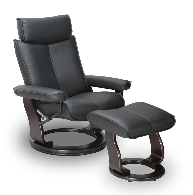 Captains recliner black
