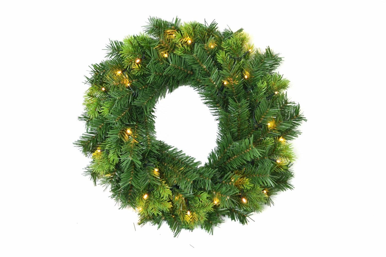 Pre- Lit Natural 5 Various Tips Wreath