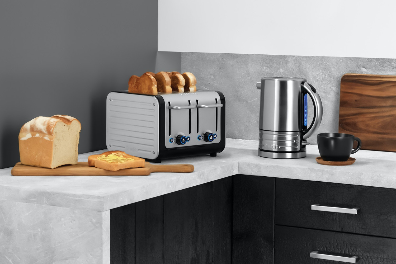 Dualit Architect 4 Slice Toaster | Stainless Steel
