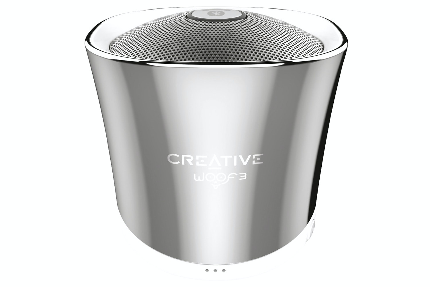 Creative Woof 3 Portable Wireless Bluetooth Speaker | Silver