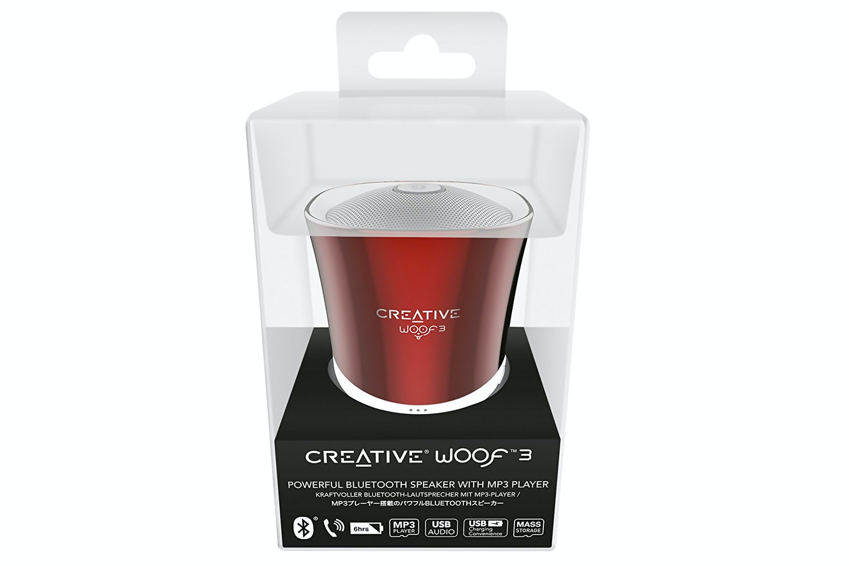 Creative Woof 3 Portable Wireless Bluetooth Speaker | Red