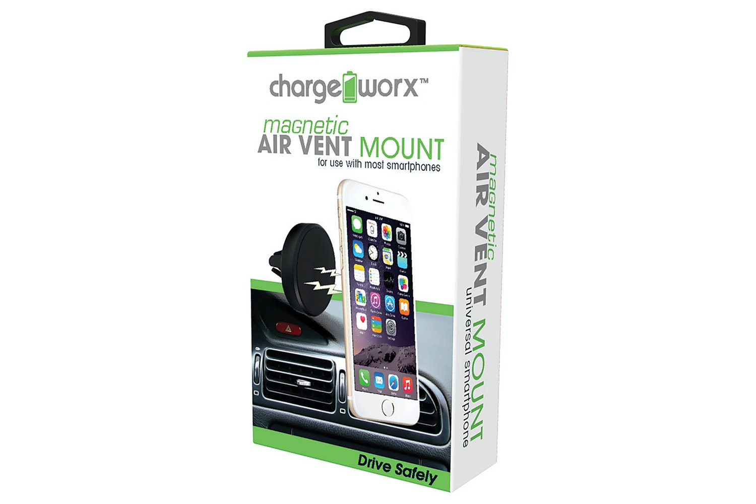 Chargeworx Magnetic Air Vent Mount | Black