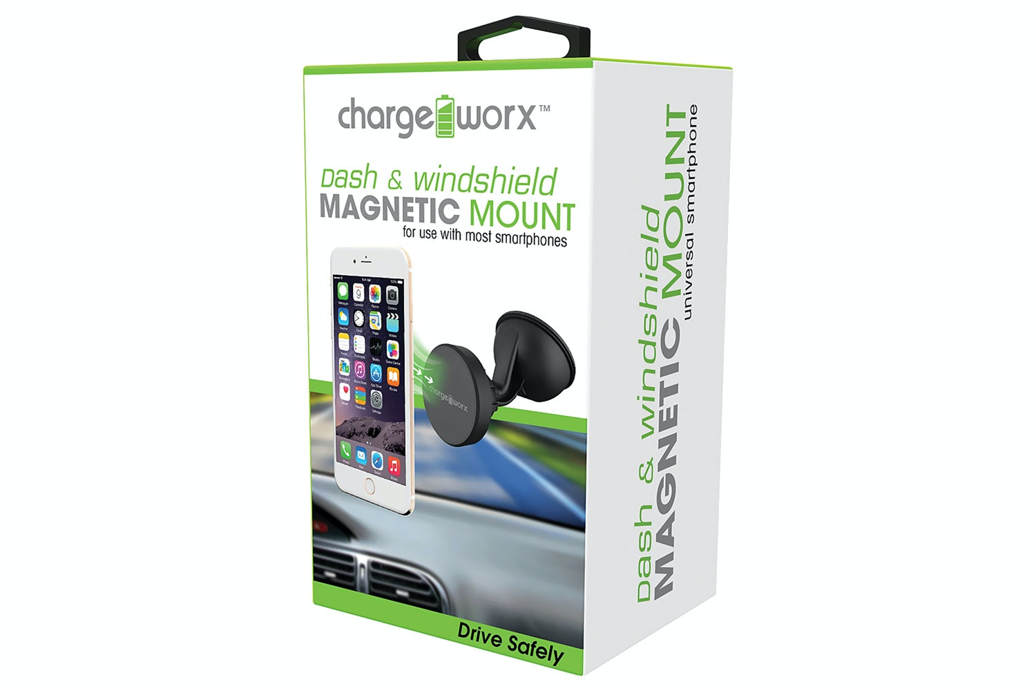 Chargeworx Magnetic Windshield Car Mount | Black