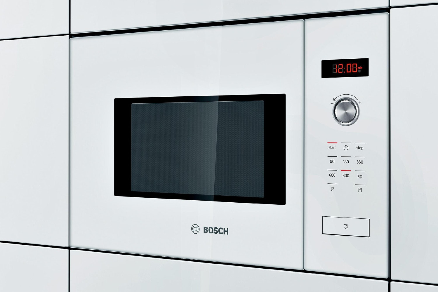 Bosch Series 6 25L 900W Built In Microwave | HMT84M624B | White