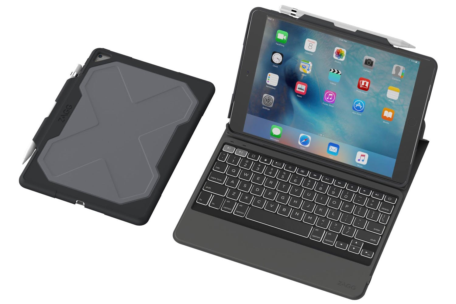 Zagg Rugged Messenger Keyboard Case For Ipad Pro Black