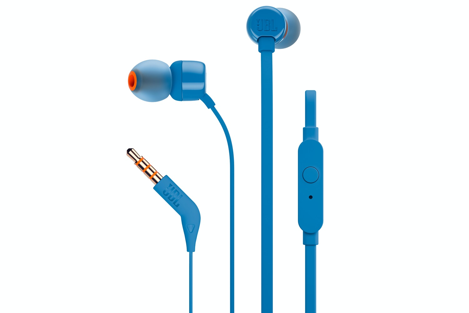 JBL T110 Pure Bass In-Ear Headphones | Blue
