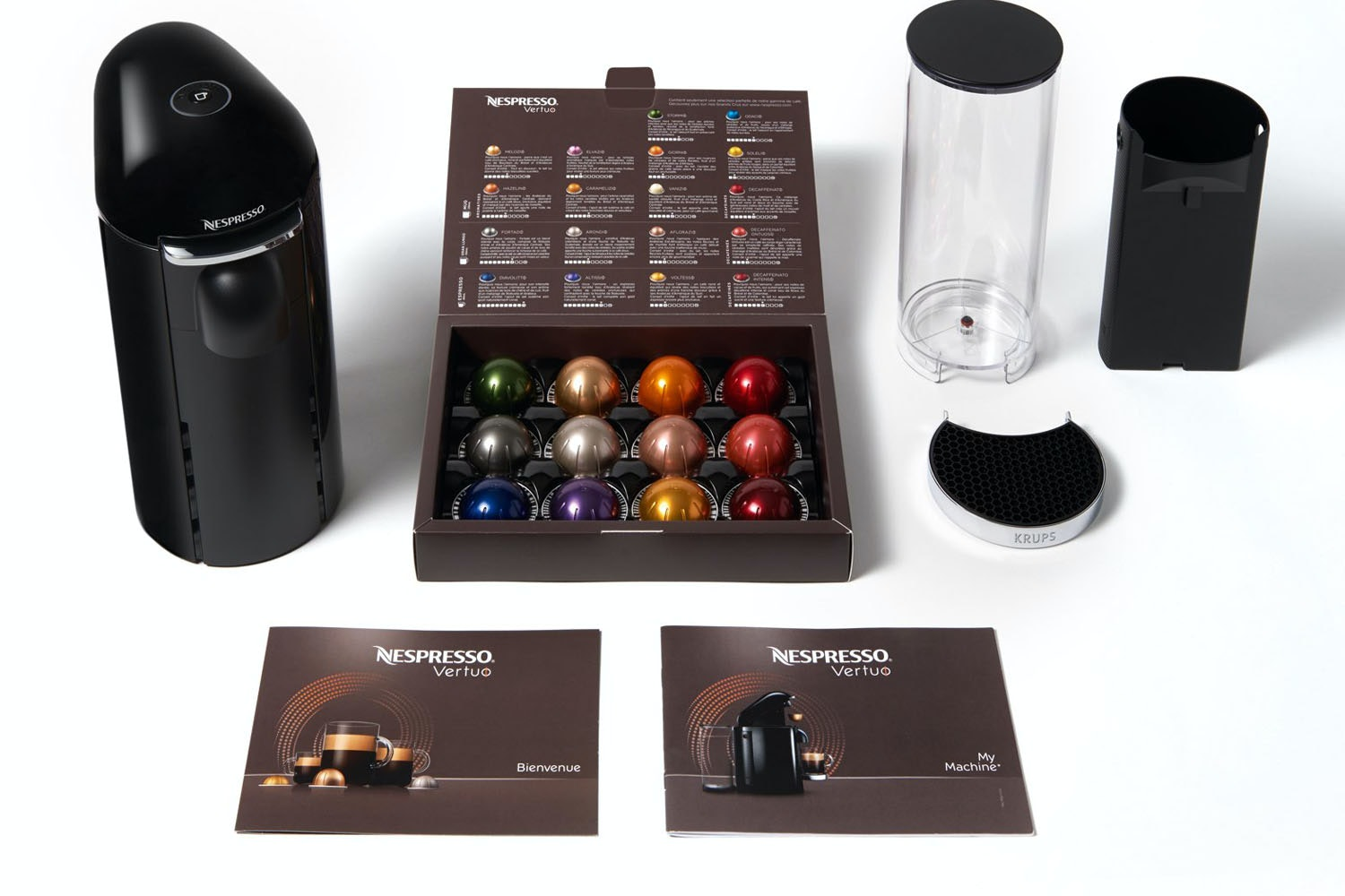 Nespresso Vertuo Plus Coffee Machine by Krups | XN900840 | Piano Black