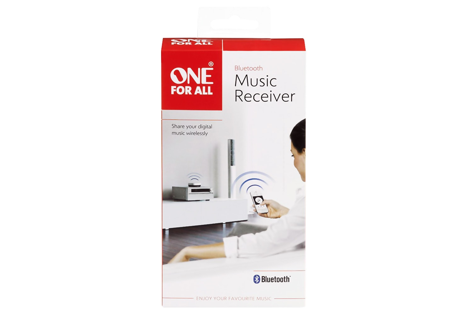 One For All Bluetooth Music Receiver | White & Blue