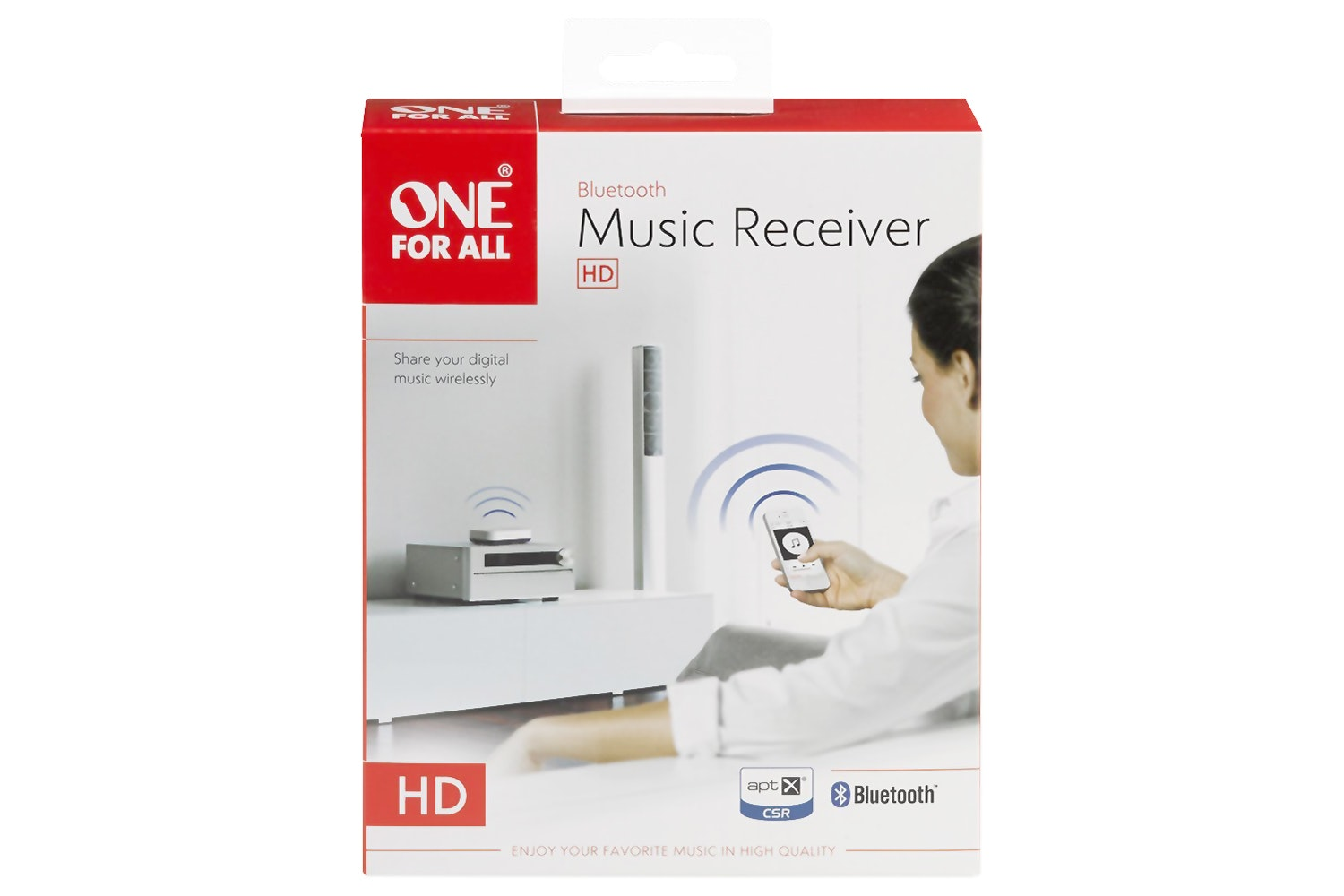 One For All Bluetooth Music Receiver | White