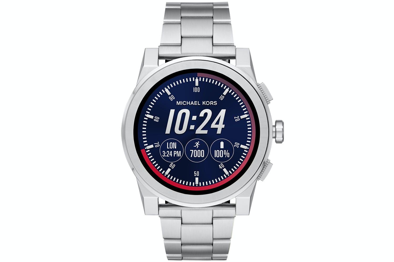 bd32440ec45a Michael Kors Grayson Silver-Tone Smartwatch