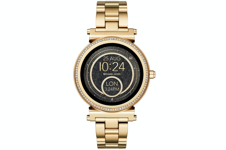 Michael Kors Sofie Pavé Gold-Tone Smartwatch