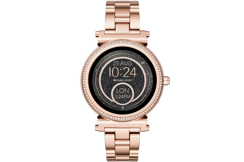 Michael Kors Sofie Pavé Rose Gold-Tone Smartwatch