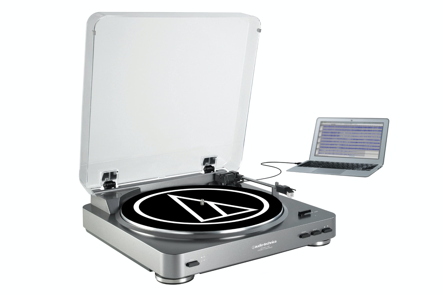 Audio Technica Fully Automatic USB Turntable | Silver