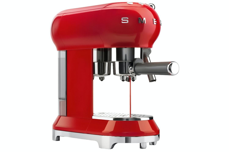 Smeg Retro Style Espresso Coffee Machine | ECF01RDUK | Red