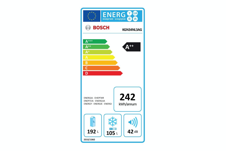 Bosch Serie 2 Freestanding Fridge Freezer | KGN34NL3AG