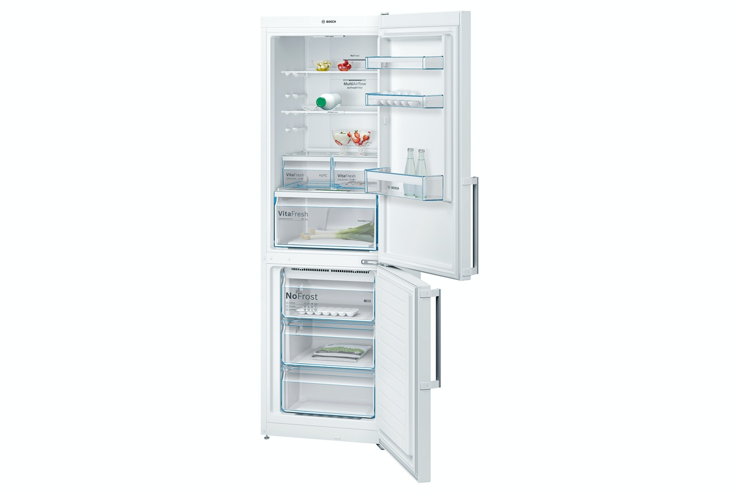 Bosch Serie 4 Freestanding Fridge Freezer | KGN36XW35G