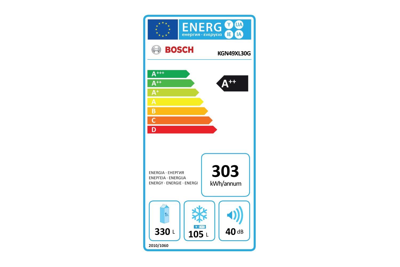 Bosch Series 4 Freestanding Fridge Freezer | KGN49XL30G