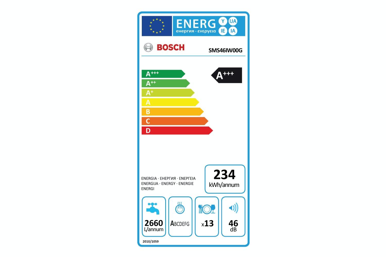 Bosch Series 4 Freestanding Dishwasher | SMS46IW00G
